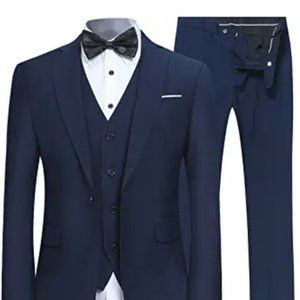 Other - Men's Slim Fit 3 Piece Suit One Button Business